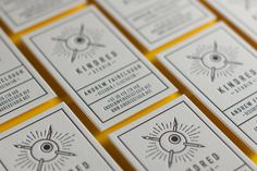 Letterpress Kindred Cards #letterpress #cards #business