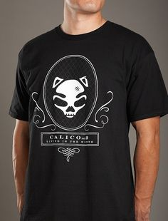 Cat Skull Black T-Shirt [SS-11-BLK-Skull-T] : Calico No.9 Store, Live In The Last