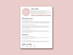 Free Pink Resume Template with Simple and Beautiful Design