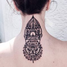 Beauty and Elegant Geometric and Poetic Tattoos #Tattoo
