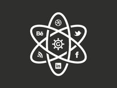 The_social_atom_2012 #logo #icons #atoms #social