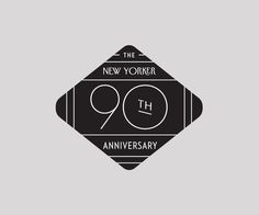 Logo for the New Yorker's 90th Anniversary. #inspiration #logo #design #90th