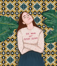 Girls & Botanical Illustration Series by Stefania Tejada
