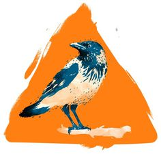 illustration on the Behance Network #print #yellow #triangle #bird