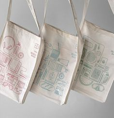 Beach Bags Atipus : Lovely Package . Curating the very best packaging design. #design #illustration #organic #cotton #bag #apitus