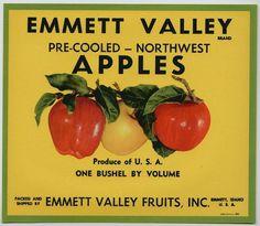 emmett valley #apples #vintage #label