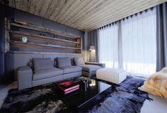 Dark, but Cozy Home in the Mountain - #home, #decor, #interior, #homedecor