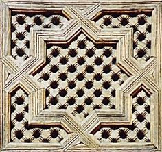 medersa_wooden_star_lattice.jpg (JPEG Image, 372x350 pixels) #pattern #tile