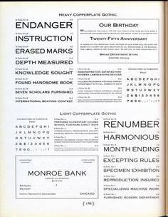 Heavy Copperplate type specimen #type #specimen #typography