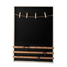 Blackboard With Pegs & Calender, 50cmH X36cmD