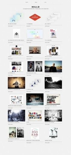 The website design showcase of Martin Silvestre. #website #martin #silvestre