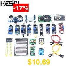 HESAI #16pcs #lot #Raspberry #Pi #3 #Raspberry #Pi #2 #Model #B #The #Sensor #Module #Package #16 #Kinds #of #Sensor