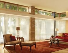 #mid century #blinds #floor to ceiling windows
