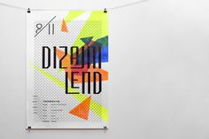 Designeyland / Dizajnilend on Behance #frame #croatia #fluorescent #portfolio #design #color #workshop #review #paint #triangle #behance #handmade #poster #acryl #type