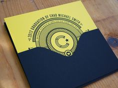 FPO: Chad Michael Smith Graduation Invitation #design #invitation #typography