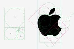 Apple logo and the golden ratio - Web Design blog #apple #ratio #grids #design #golden #logo