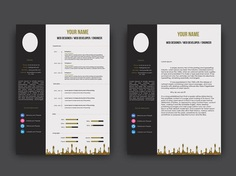 Imane Resume - Free PSD Resume Template with Cover Letter Page