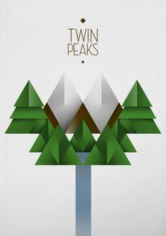 Twin Peaks : Miguel Naranjo #spain #design #graphic #peaks #naranjo #poster #twin #miguel