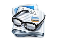 ReadKit Mac App Icon #glasses #icon #design #newspaper #glass #app #magazine #mac