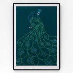 Peacock #print #poster