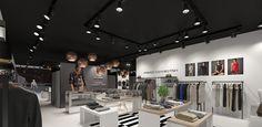 Interior visualization of the multi-brand store - dizonaurai #render #interior #store