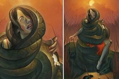 Chris B. Murray #cindy #gallery1988 #illustration #slithers #painting