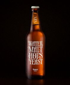 Packaging inspiration #beer #typography
