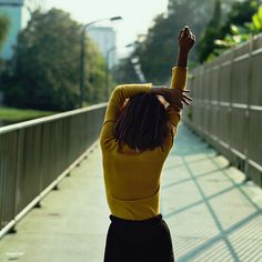 Good morning 💛 ! Be inspired by Rawpixel.com #morning #stretch #woman #road #way #career #realimage #social #branding #socialmedia #
