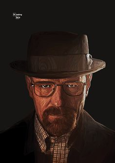Walter White - In honor of the finale. #walter #white #breaking #heisenberg #illustration #mosaic #bad