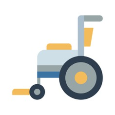 See more icon inspiration related to wheelchair, handicap, healthcare and medical, disabled, transportation and transport on Flaticon.