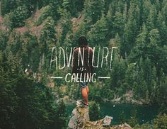 Adventure Is Calling #lettering #tbks #adventure #theboredkids #travel #typography