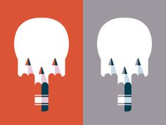 Two Skulls by Timo Meyer #illustration #vector #skull #shirt