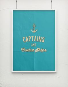 Captains. #owl #pop #city #retro #vintage #poster #art #typography