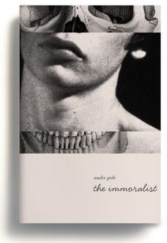 The immoralist #book cover love the contrast of type, italics