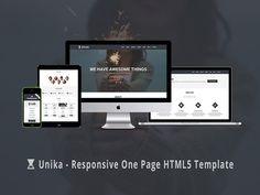 Unika – Free Responsive Single Page HTML5 Template