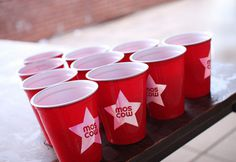 Moscow Star red cups