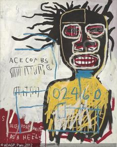 http://www.artvalue.com/photos/auction/0/48/48394/basquiat jean michel 1960 1988 self portrait as a heel 2636524.jpg #michel #jean #basquiat