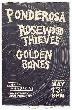 golden bones flyer - Matt Terrell #flyer #band #goldenbonesband