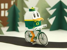 uofo_duck_bicycle #cut #paper