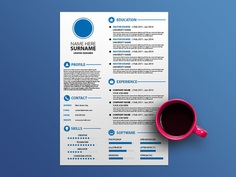 Free White CV Template with Simple Design