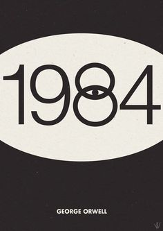 missionpizza:1 9 8 4 #book #cover #george orwell #1984 #cover design