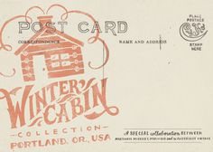 Winter Cabin Collection — Let's Live in the Mountains Print #print #screen #cabin #postcard #winter