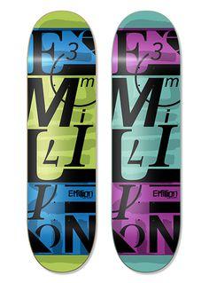 EMILLION SKATEBOARDS #skateboard #skateart #illustration #graphicdesign #endordesigns