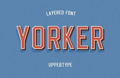 Yorker font on Behance #typography