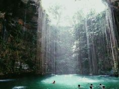 Likes | Tumblr #lagoon #cave #sea #waterfall