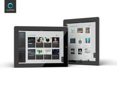 Clusterr iPad App (reissue 2012 on the Behance Network #gui