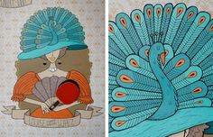 Ping Pong Legends Mural | Jolby & Friends #pattern #mural #jolby #print #pong #portland #screen #illustration #2010 #ping