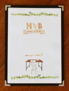 The Selby x Hand Bakes cafe Tokyo « the selby #menu #food #cafe #illustration #coffee