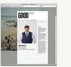 GOOD Brand — Work — AREA 17 #layout #design #web
