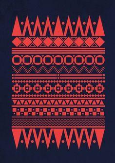 Jebba Design - Poster 8 | Flickr – Condivisione di foto! #red #folk #graphic #illustration #poster #jebba